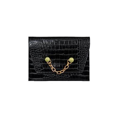Women Crocodile Pattern PU Clutch Bag