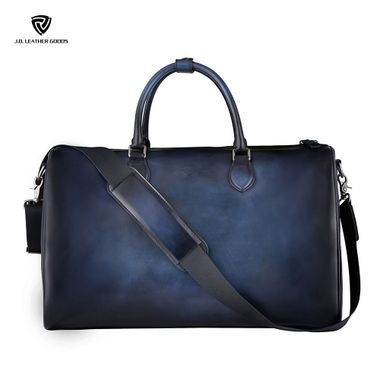 Handpainted Luxury Men Leather Duffel Travel Bag
