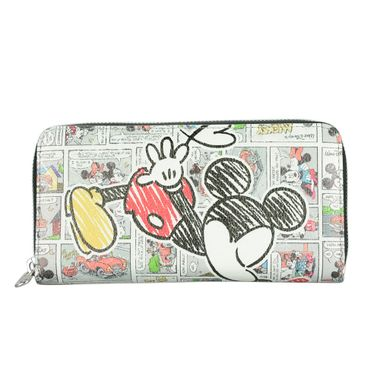 Lovely Mickey Mouse Printed Zip Around Long Wallet