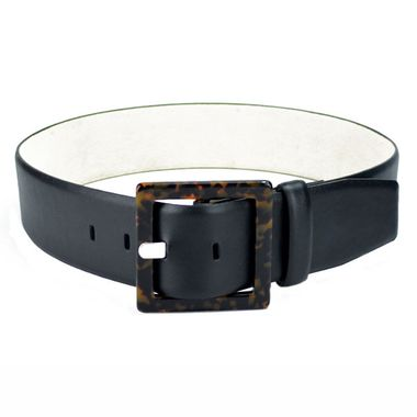 Women Black PU Belt