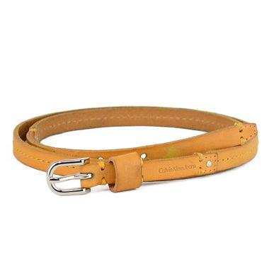 Brown Skinny Lady Genuine Leather Belt