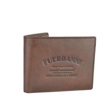 Man Genuine Leather Wallet with Stamped Logo