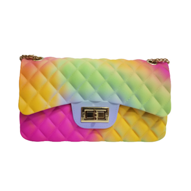 Women's Rainbow Jelly Crossbody Bag