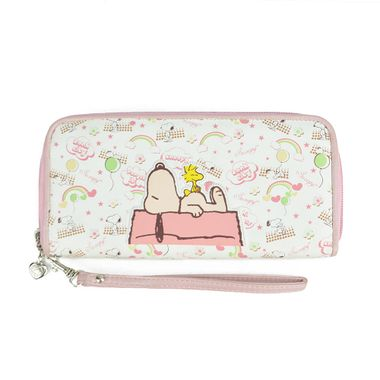 Girl Cute Snoopy Printed PU Purse with Removable Handle