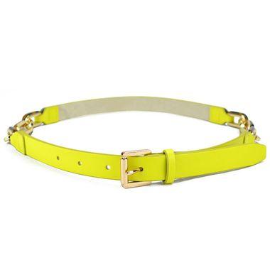 Women Yellow and Chain Belt