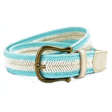 Women's Leather and Webbing Belt
