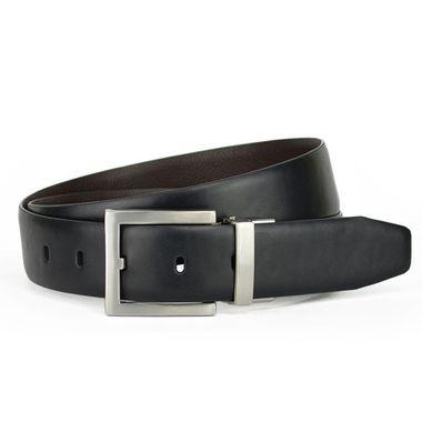Men Feather Edge Formal PU Belt