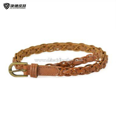 Women Fashion Skinny Braided Belt