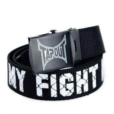 Black Polyester Belt with Printed Logo