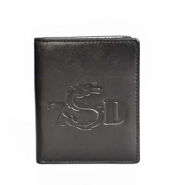 Black Man Genuine Leather Bifold Horizontal Wallet