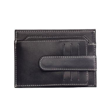 Black Men Leather Slim Card Holder Wallet