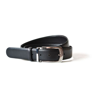 Black Formal Dress Belt Men Top Grain Leather Belt