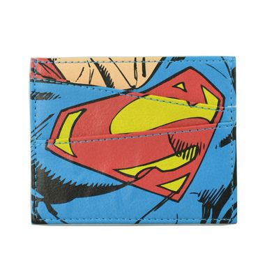 Superman Printed PU Card Case with PVC ID Window