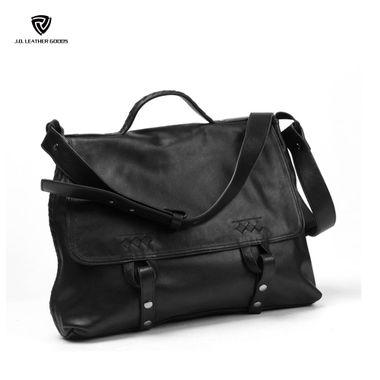 Fashion Men British Soft Leather Handbag