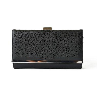 Women Laser Pattern Purse Clutch Wallet