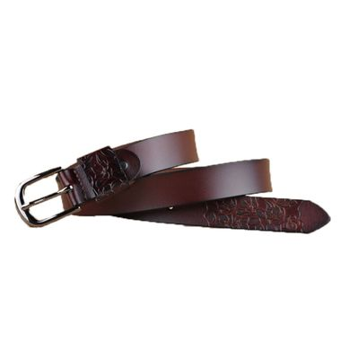 Carved Genuine Leather Belt
