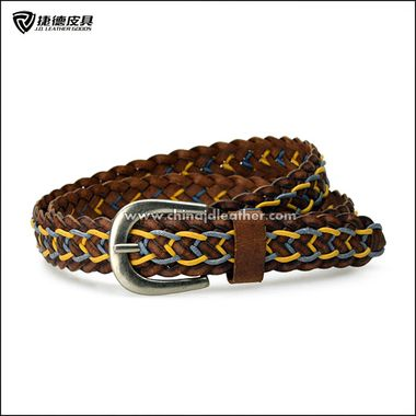Women Braided Leather Strip/Cotton String Belt