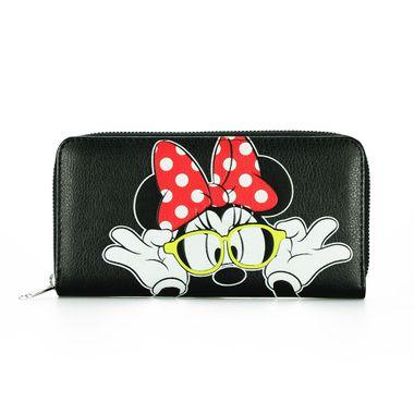 Disney Minnie Mouse Printed PU Long Zip Around Wallet