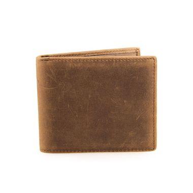 Vintage Brown Men Crazy Horse Leather Wallet