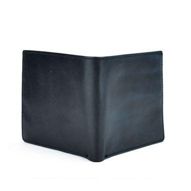 Man Black Horizontal Bifold PU Wallet