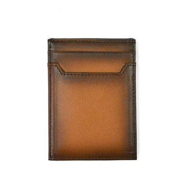 Custom Design Spray Color Leather Card Case