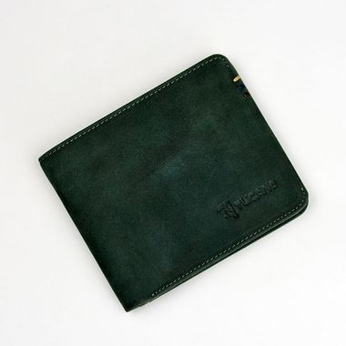 Man Bi-Fold Oil Nubuck Horizontal Wallet