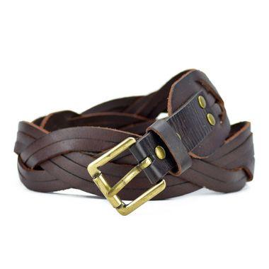 Designer Braided Leather Belt for Women