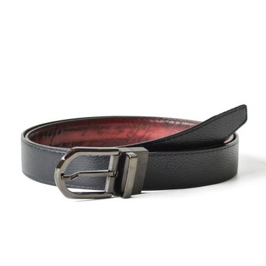 Hand-painted Men Designer Italian leather Reversible Belt