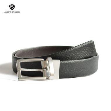 Men Full Grain Leather Belt with Reversible Buckle