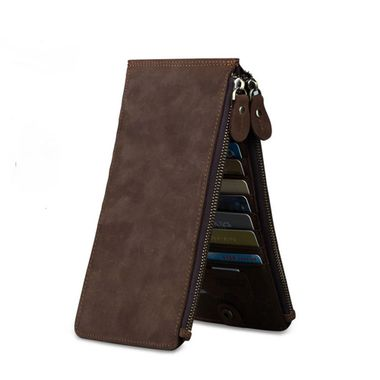Men Business Leather Cell Phone Wallet
