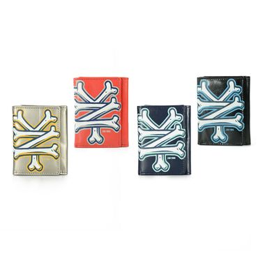 Trifold Logo Printed PU Wallet with Snap Closure