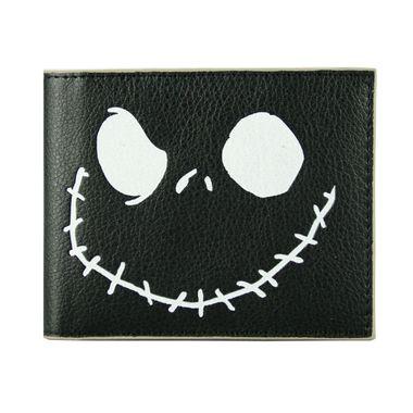 Black Bi-Fold Printed Pebbled PU Wallet