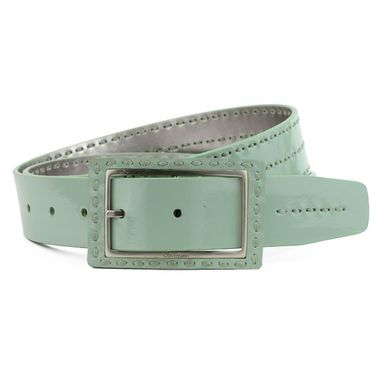 Stitched Metallic PU Belt for Women