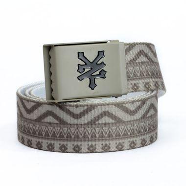 Printed Webbing Belt with Logo Buckle