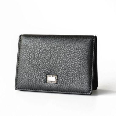 Man Black Genuine Leather Card Holder