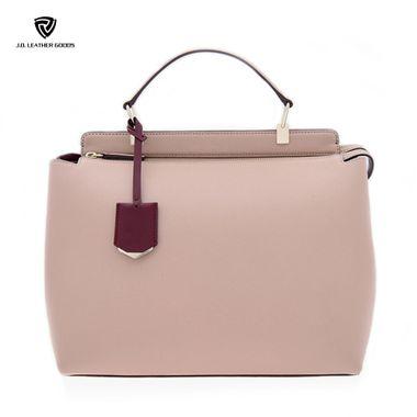 Top Quality Women Genuine Nappa Leather Pink Handbag