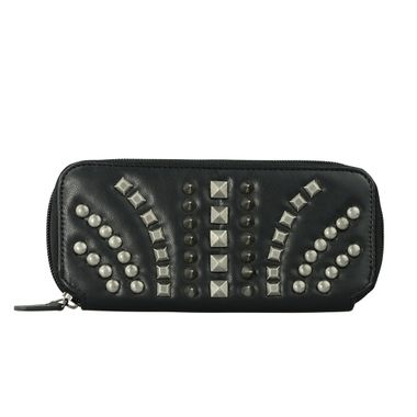 Woman Studded Long Zip Around Wallet