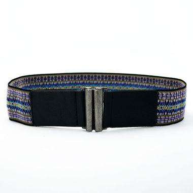 Ladies Webbing Belt with PU Tab and Tip