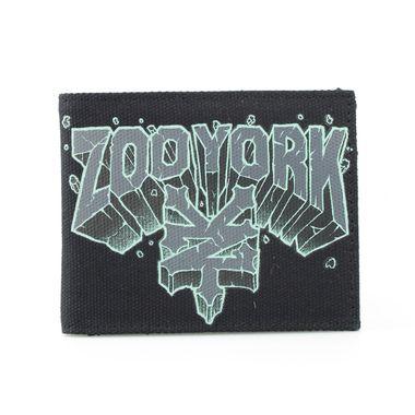 Logo Printed Fabric Bi-Fold Wallet