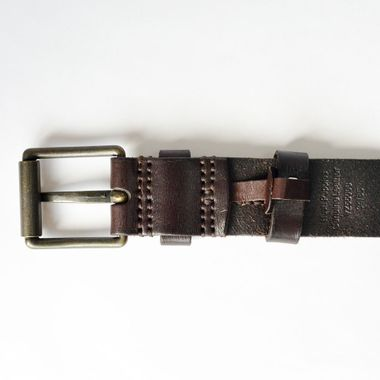 Full Grain Leather Belt with Roller Buckle