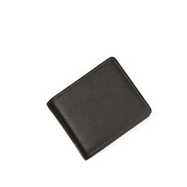 Man Slim Leather Wallet with Mesh ID Window