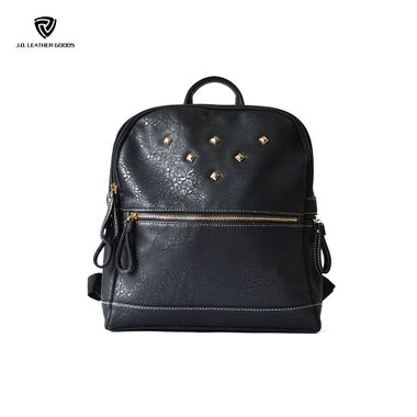 Women Black Fashion Wholesale Backpack with Studs