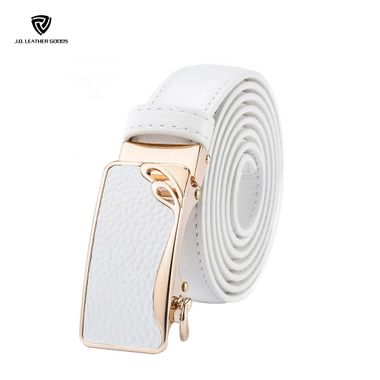 Business Type Women Leather Ratchet Belt without Holes