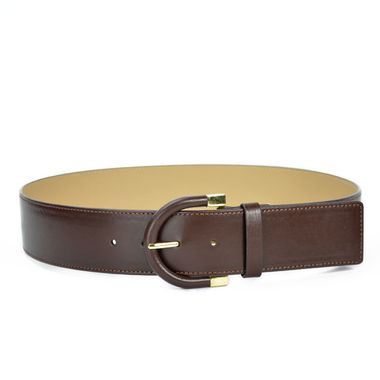 Ladies PU Belt with Special Buckle