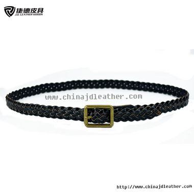 Women Leather Braided Belt