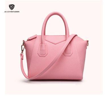 Women Litchi Grain Genuine Leather Handbag