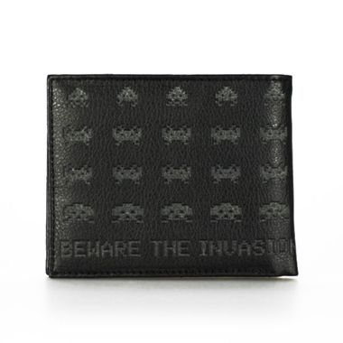 Space Invaders Aliens Printed & Stamped Bi-Fold Wallet