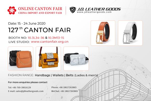 127th Canton Fair Invitation from J.D. Leather Goods